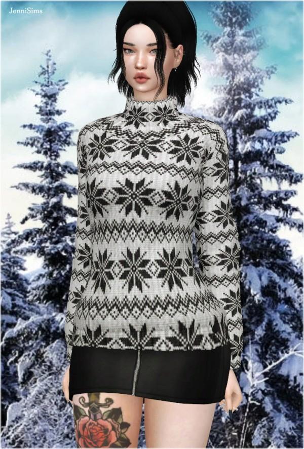 Jenni Sims: Sweater High Collar
