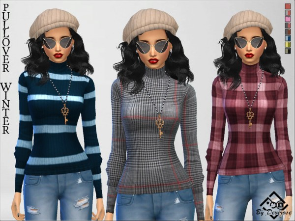 The Sims Resource: Pullover Winter by Devirose