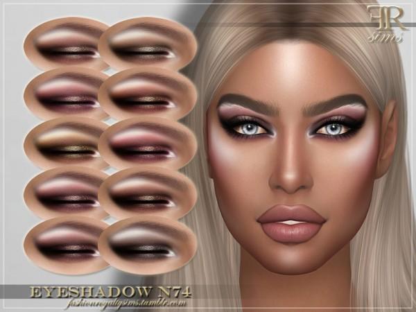 The Sims Resource: Eyeshadow N74 by FashionRoyaltySims