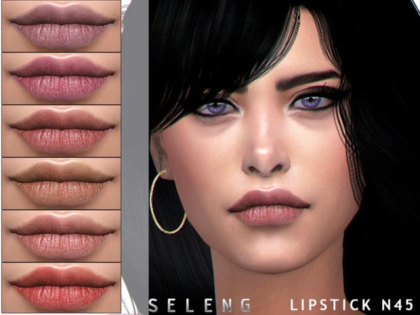 The Sims Resource: Lipstick N45 by Seleng