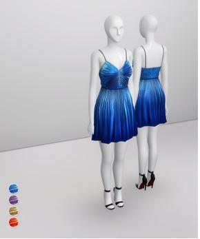 Rusty Nail: Pleated Slik Blend Lame Dress