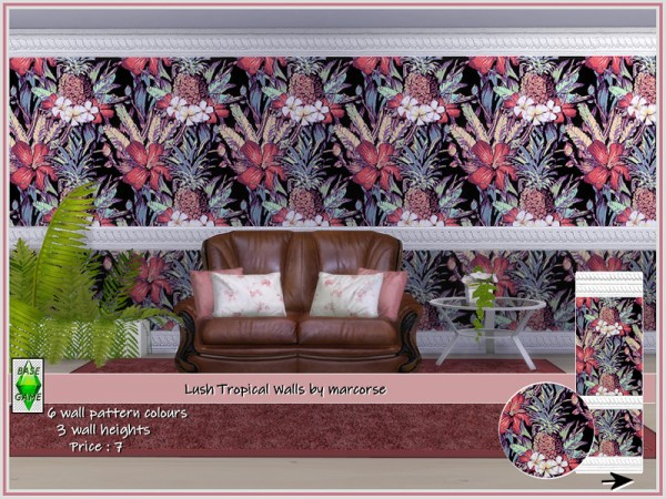 The Sims Resource: Lush Tropical Walls by marcorse