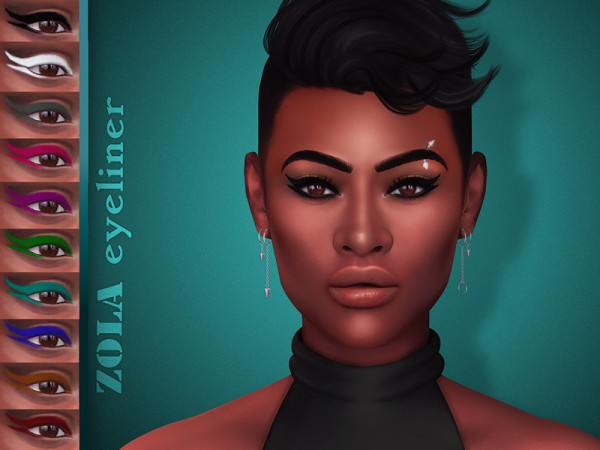 The Sims Resource: Zola Eyeliner by KatVerseCC