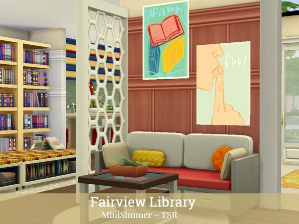 The Sims Resource: Fairview Library by Mini Simmer
