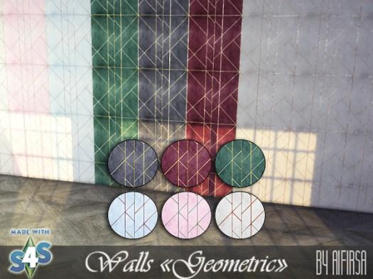 Aifirsa Sims: Geometric walls