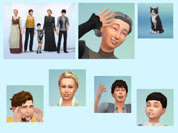 KyriaTs Sims 4 World: The Austdals  Family Sims Models
