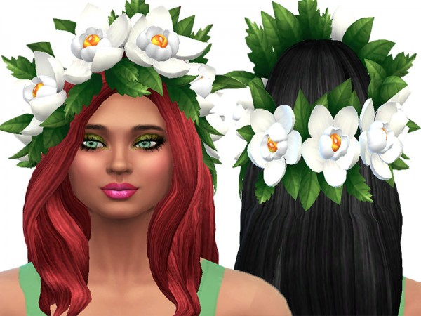 The Sims Resource: Head flowers by TrudieOpp