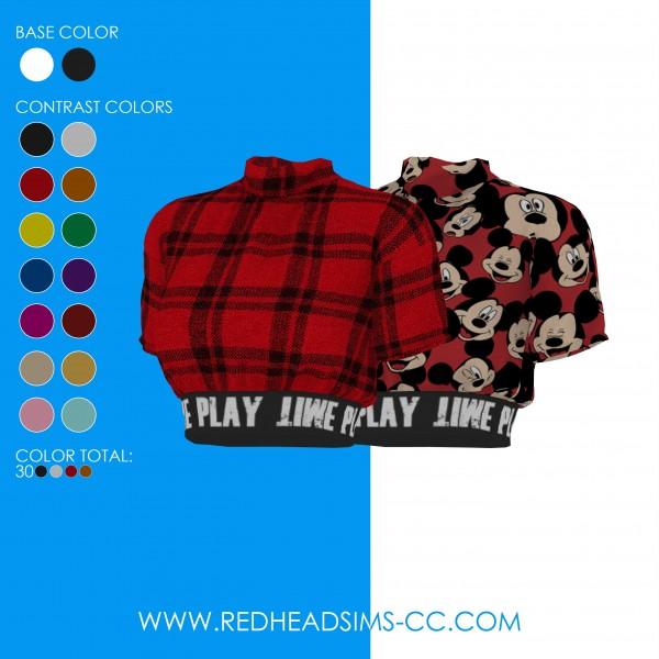 Red Head Sims: Lynne Top