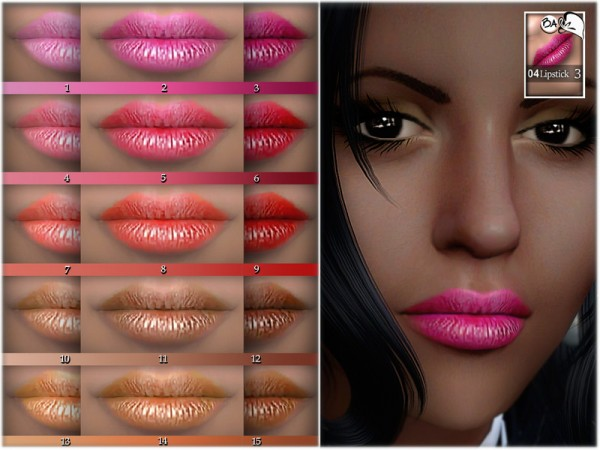 The Sims Resource: Lipstick N04 by BAkalia
