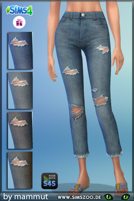 Blackys Sims 4 Zoo: Old jeans by mammut