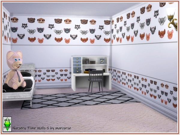 The Sims Resource: Nursery Time Walls by marcorse