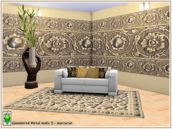 The Sims Resource: Hammered Metal Walls by marcorse