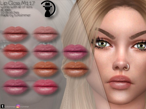 The Sims Resource: Lip Gloss M117 by turksimmer
