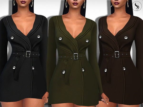 The Sims Resource: Business Lady Formal Trench Coats by Saliwa