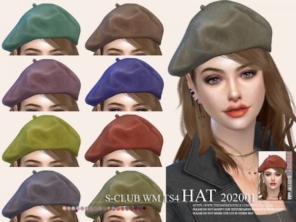 The Sims Resource: Hat 202001 by S Club