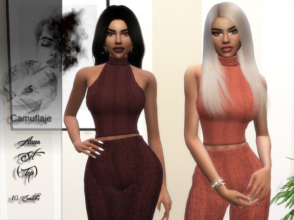 The Sims Resource: Anna Top by Camuflaje