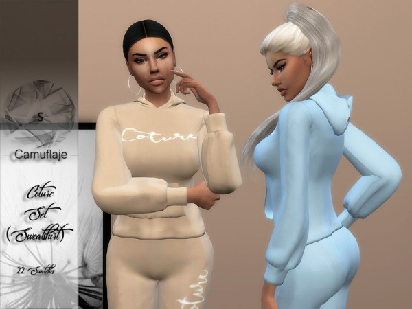 The Sims Resource: Coture Sweatshirt by Camuflaje