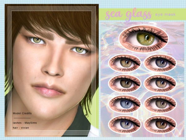 The Sims Resource: Sea Glass Eye Mask by Screaming Mustard