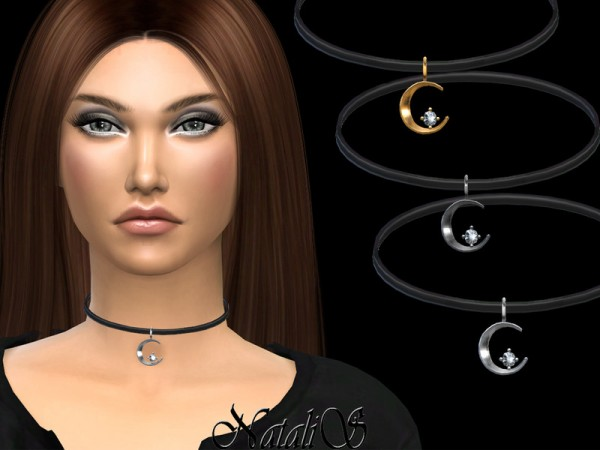 The Sims Resource: Crescent and star necklace by NataliS