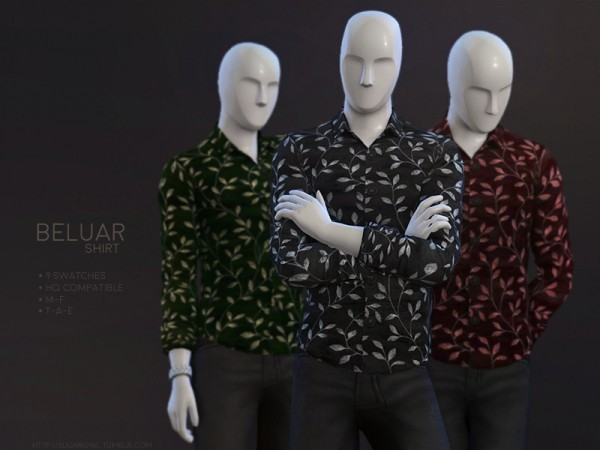 The Sims Resource: Beluar shirt by sugar owl