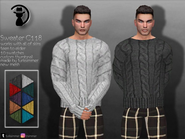 The Sims Resource: Sweater C118 by turksimmer