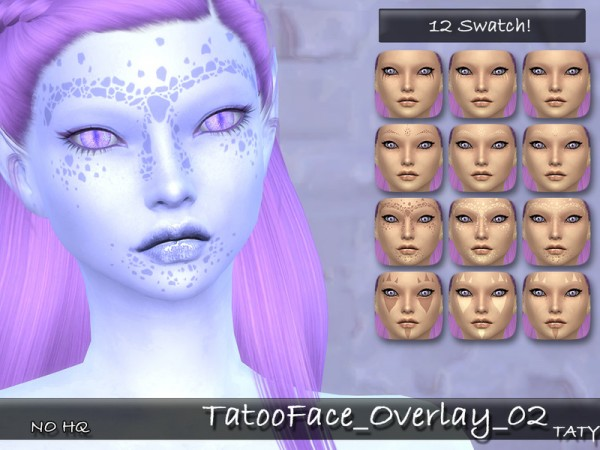 The Sims Resource: Tatoo Face Overlay 02 by tatygagg
