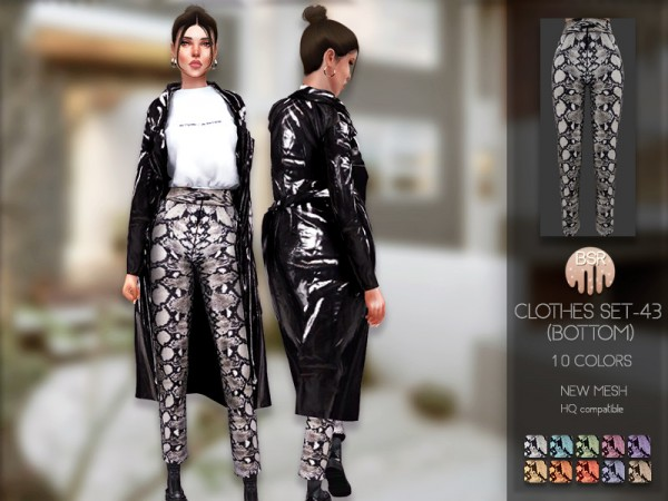 The Sims Resource: Clothes SET 43 Pants by busra tr