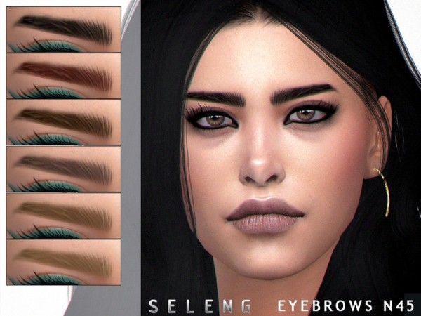 The Sims Resource: Eyebrows N45 by Seleng
