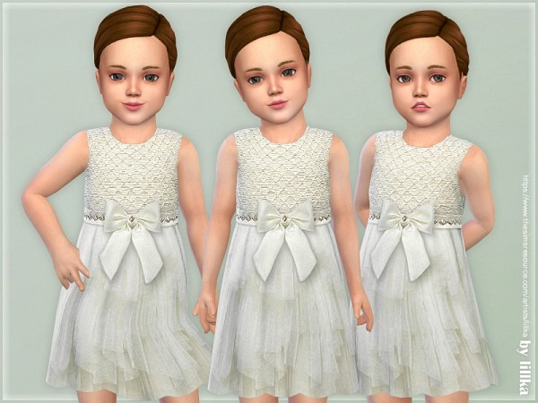 The Sims Resource: Ivory Bodice Dress by lillka