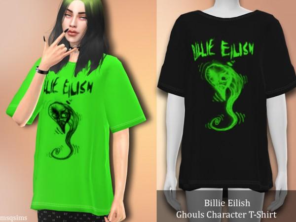 MSQ Sims: Billie Eilish Ghouls Character T Shirt