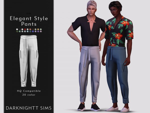 The Sims Resource: Elegant Style Pants by DarkNighTt