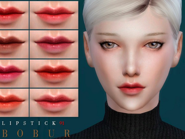 The Sims Resource: Lipstick 91 by Bobur