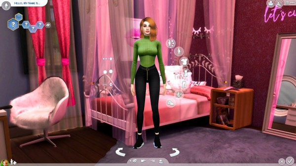 Mod The Sims: Pink Bedroom CAS Background by Togotica