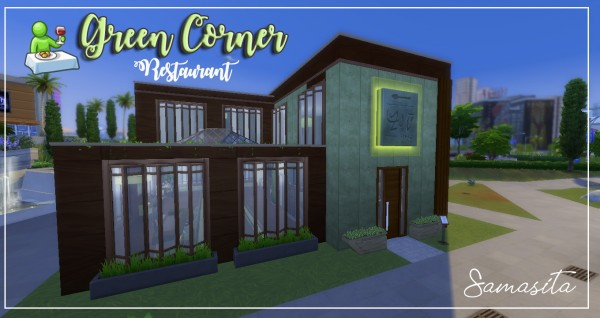 Luniversims: Green corner house by Samasita