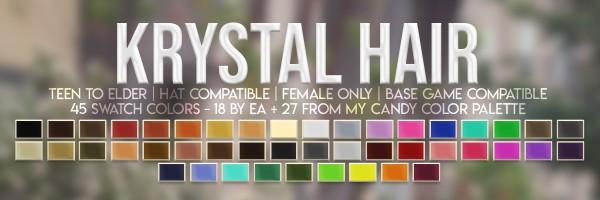 Candy Sims 4: Krystal Hair