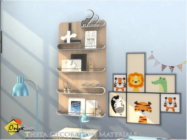 The Sims Resource: Theta Decoration Materials by Onyxium