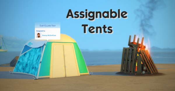 Mod The Sims: Assignable Tents by Maars