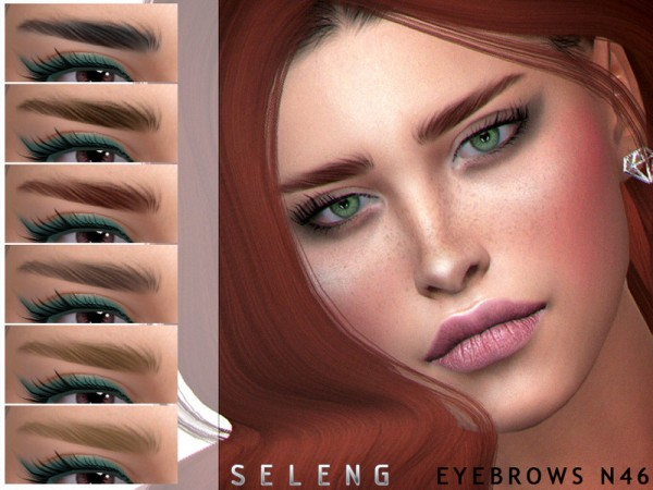The Sims Resource: Eyebrows N46 by Seleng