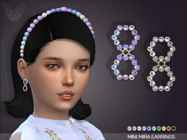 Giulietta Sims: Mini mira earrings