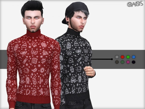 The Sims Resource: Winter Turtleneck Sweater by OranosTR