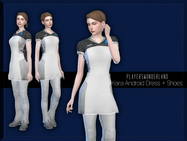 Players Wonderland: Kara Android Dress and Shoes