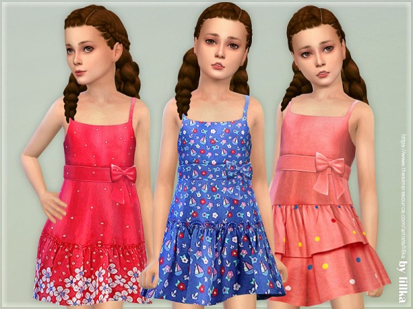 The Sims Resource: Girls Dresses Collection P134 by lillka
