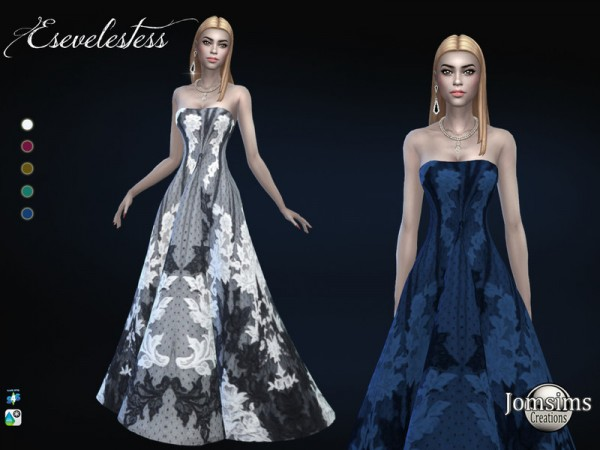 The Sims Resource: Esevelestess dress by jomsims