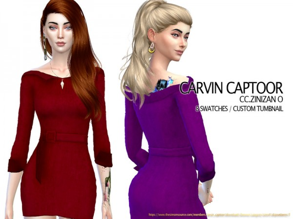 The Sims Resource: Zinizan O dress by carvin captoor