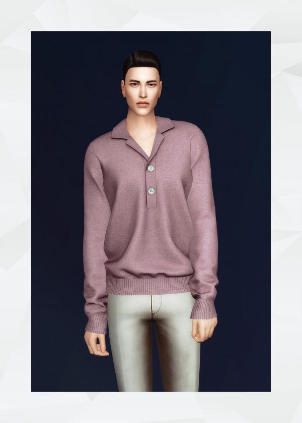 Gorilla: Open Callared Sweatshirt