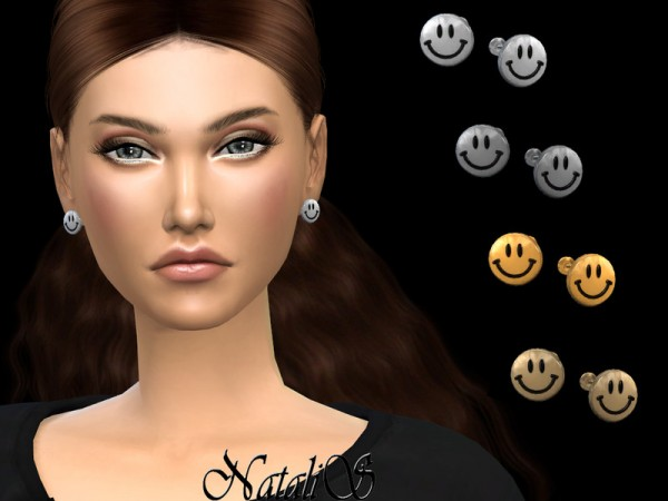 The Sims Resource: Smiley face earrings by NataliS