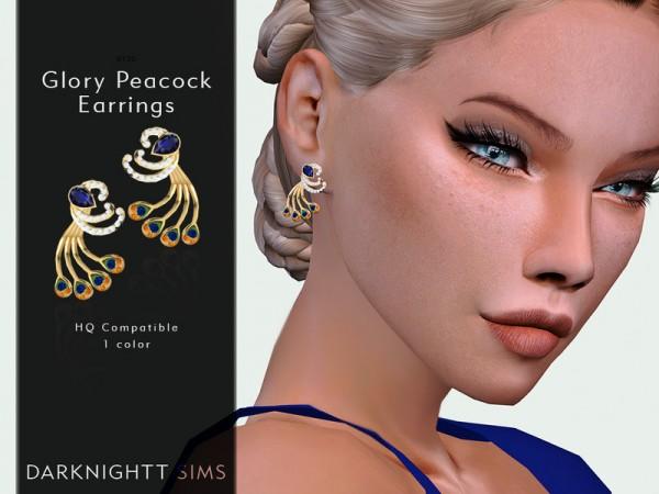 The Sims Resource: Glory Peacock Earrings by DarkNighTt