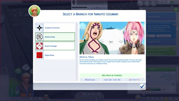Mod The Sims: Naruto Ninja Career by RayBreeder7