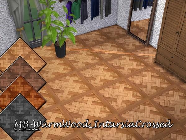 The Sims Resource: Warm Wood Intarsia Crossed by matomibotaki