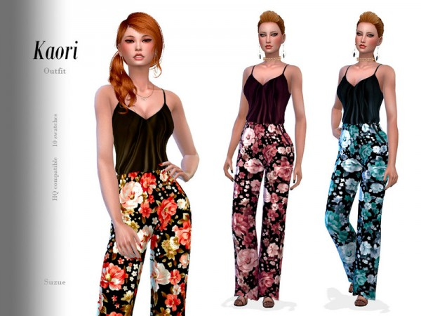 The Sims Resource: Kaori Outfit by Suzue